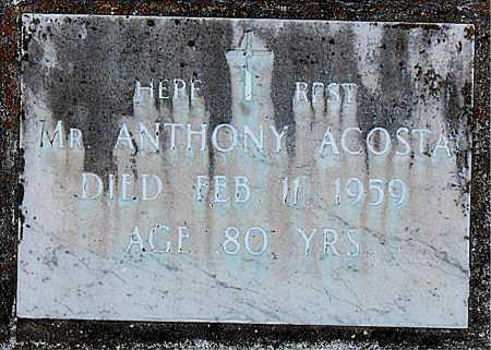 ACOSTA, ANTHONY,MR - Terrebonne County, Louisiana | ANTHONY,MR ACOSTA - Louisiana Gravestone Photos