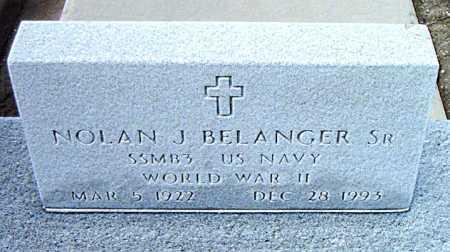 BELANGER, NOLAN J,SR  (VETERAN WWII) - Terrebonne County, Louisiana   NOLAN J,SR  (VETERAN WWII) BELANGER - Louisiana Gravestone Photos
