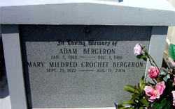 BERGERON, ADAM - Terrebonne County, Louisiana | ADAM BERGERON - Louisiana Gravestone Photos