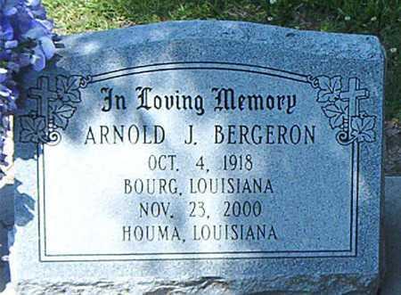 BERGERON, ARNOLD J - Terrebonne County, Louisiana   ARNOLD J BERGERON - Louisiana Gravestone Photos