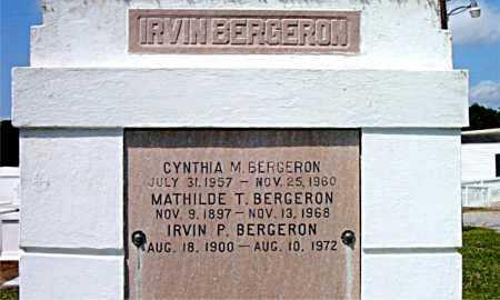 BERGERON, MATHILDE T - Terrebonne County, Louisiana | MATHILDE T BERGERON - Louisiana Gravestone Photos