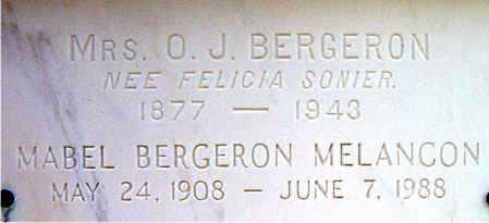 BERGERON, FELICIA - Terrebonne County, Louisiana   FELICIA BERGERON - Louisiana Gravestone Photos