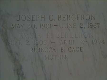 BERGERON, JOSEPH C. - Terrebonne County, Louisiana | JOSEPH C. BERGERON - Louisiana Gravestone Photos