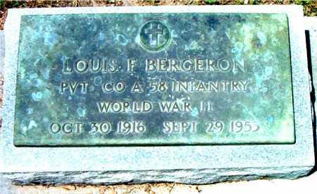 BERGERON, LOUIS F (VETERAN WWII) - Terrebonne County, Louisiana | LOUIS F (VETERAN WWII) BERGERON - Louisiana Gravestone Photos