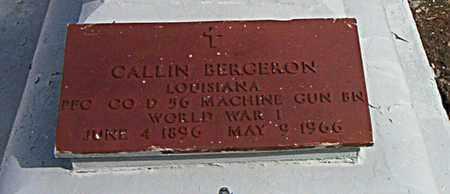 BERGERON, CALLIN (VETERAN WWI) - Terrebonne County, Louisiana | CALLIN (VETERAN WWI) BERGERON - Louisiana Gravestone Photos