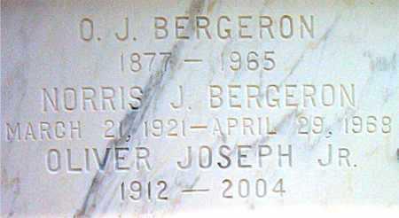 BERGERON, OLIVER JOSEPH,JR - Terrebonne County, Louisiana | OLIVER JOSEPH,JR BERGERON - Louisiana Gravestone Photos
