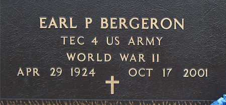 BERGERON, EARL P (VETERAN WWII) - Terrebonne County, Louisiana   EARL P (VETERAN WWII) BERGERON - Louisiana Gravestone Photos