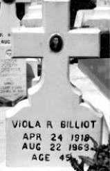 RODRIGUE BILLIOT, VIOLA - Terrebonne County, Louisiana   VIOLA RODRIGUE BILLIOT - Louisiana Gravestone Photos