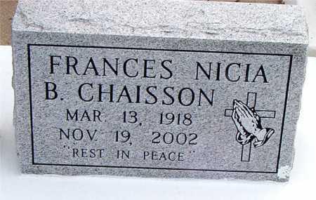 CHAISSON, FRANCES NICIA B - Terrebonne County, Louisiana | FRANCES NICIA B CHAISSON - Louisiana Gravestone Photos