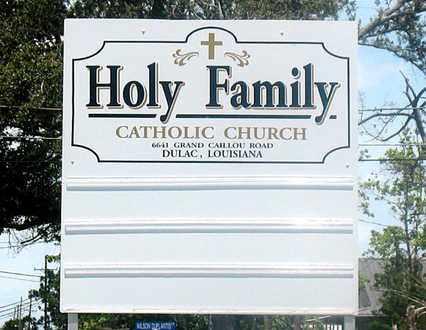 *CHURCH SIGN,  - Terrebonne County, Louisiana |  *CHURCH SIGN - Louisiana Gravestone Photos