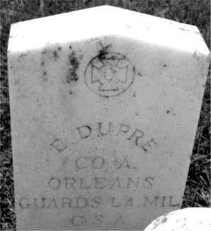 DUPRE, E (VETERAN CSA) - Terrebonne County, Louisiana | E (VETERAN CSA) DUPRE - Louisiana Gravestone Photos
