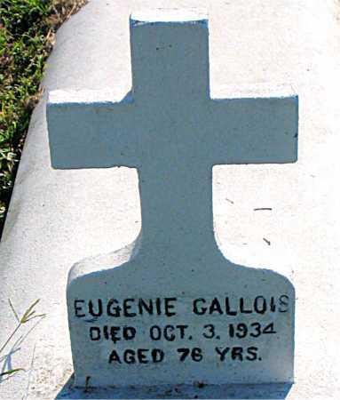 GALLOIS, EUGENIE - Terrebonne County, Louisiana   EUGENIE GALLOIS - Louisiana Gravestone Photos