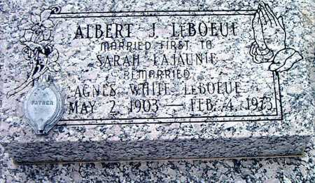 LEBOEUF, ALBERT - Terrebonne County, Louisiana | ALBERT LEBOEUF - Louisiana Gravestone Photos