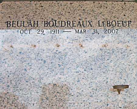 LEBOEUF, BEULAH - Terrebonne County, Louisiana | BEULAH LEBOEUF - Louisiana Gravestone Photos