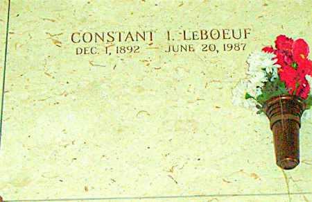 LEBOEUF, CONSTANT I - Terrebonne County, Louisiana   CONSTANT I LEBOEUF - Louisiana Gravestone Photos