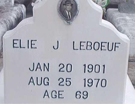LEBOEUF, ELIE J - Terrebonne County, Louisiana | ELIE J LEBOEUF - Louisiana Gravestone Photos