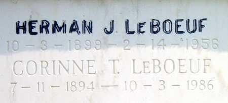 LEBOEUF, HERMAN J - Terrebonne County, Louisiana | HERMAN J LEBOEUF - Louisiana Gravestone Photos