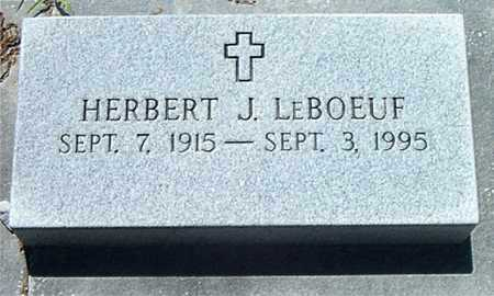LEBOEUF, HERBERT J - Terrebonne County, Louisiana | HERBERT J LEBOEUF - Louisiana Gravestone Photos