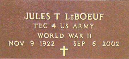 LEBOEUF, JULES T (VETERAN WWII) - Terrebonne County, Louisiana | JULES T (VETERAN WWII) LEBOEUF - Louisiana Gravestone Photos