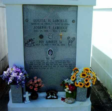 LEBOEUF, LOUISE H - Terrebonne County, Louisiana | LOUISE H LEBOEUF - Louisiana Gravestone Photos