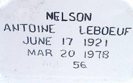 LEBOEUF, NELSON ANTOINE - Terrebonne County, Louisiana | NELSON ANTOINE LEBOEUF - Louisiana Gravestone Photos