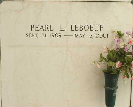 LEBOEUF, PEARL L - Terrebonne County, Louisiana | PEARL L LEBOEUF - Louisiana Gravestone Photos