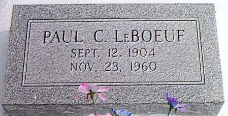 LEBOEUF, PAUL C. - Terrebonne County, Louisiana | PAUL C. LEBOEUF - Louisiana Gravestone Photos