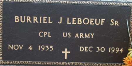 LEBOEUF, BURRIEL J,SR (VETERAN) - Terrebonne County, Louisiana | BURRIEL J,SR (VETERAN) LEBOEUF - Louisiana Gravestone Photos