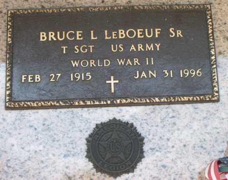 LEBOEUF, BRUCE L,SR (VETERAN WWII) - Terrebonne County, Louisiana | BRUCE L,SR (VETERAN WWII) LEBOEUF - Louisiana Gravestone Photos