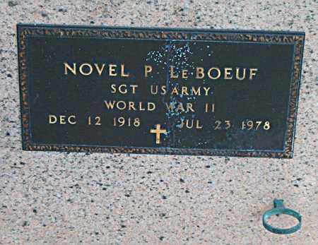 LEBOEUF, NOVEL P (VETERAN WWII) - Terrebonne County, Louisiana | NOVEL P (VETERAN WWII) LEBOEUF - Louisiana Gravestone Photos