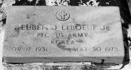 LEBOEUF, REUBEN J,JR (VETERAN KOR) - Terrebonne County, Louisiana | REUBEN J,JR (VETERAN KOR) LEBOEUF - Louisiana Gravestone Photos