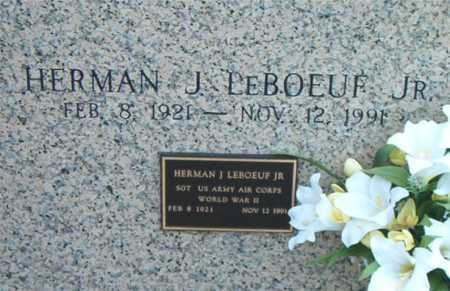 LEBOEUF, HERMAN J,JR (VETERAN WWII) - Terrebonne County, Louisiana | HERMAN J,JR (VETERAN WWII) LEBOEUF - Louisiana Gravestone Photos