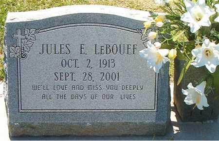 LEBOUEF, JULES E - Terrebonne County, Louisiana   JULES E LEBOUEF - Louisiana Gravestone Photos