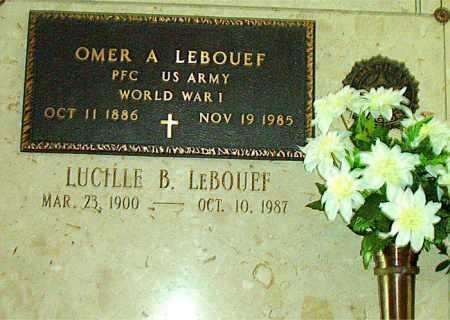 LEBOUEF, LUCILLE B - Terrebonne County, Louisiana | LUCILLE B LEBOUEF - Louisiana Gravestone Photos