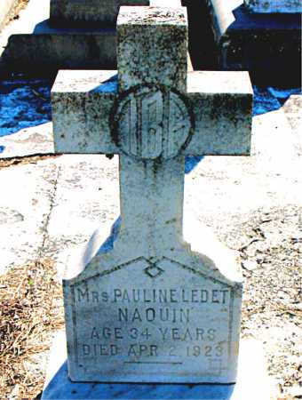 NAQUIN, PAULINE,MRS - Terrebonne County, Louisiana | PAULINE,MRS NAQUIN - Louisiana Gravestone Photos