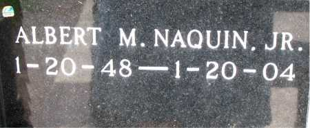 NAQUIN, ALBERT M,JR - Terrebonne County, Louisiana | ALBERT M,JR NAQUIN - Louisiana Gravestone Photos