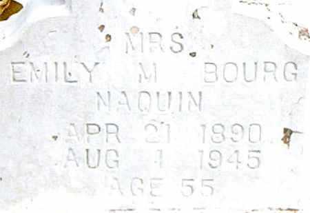 NAQUIN, EMILY M,MRS - Terrebonne County, Louisiana   EMILY M,MRS NAQUIN - Louisiana Gravestone Photos
