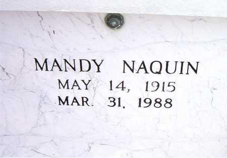 NAQUIN, MANDY - Terrebonne County, Louisiana | MANDY NAQUIN - Louisiana Gravestone Photos