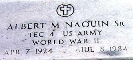 NAQUIN, ALBERT M,SR (VETERAN WWII) - Terrebonne County, Louisiana | ALBERT M,SR (VETERAN WWII) NAQUIN - Louisiana Gravestone Photos
