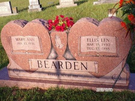 BEARDEN, ELLIS LEN - Union County, Louisiana   ELLIS LEN BEARDEN - Louisiana Gravestone Photos