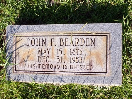 BEARDEN, JOHN FRANK - Union County, Louisiana   JOHN FRANK BEARDEN - Louisiana Gravestone Photos
