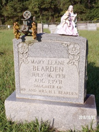 BEARDEN, MARY LEANE - Union County, Louisiana | MARY LEANE BEARDEN - Louisiana Gravestone Photos