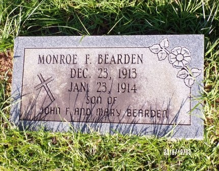 BEARDEN, MONROE F - Union County, Louisiana | MONROE F BEARDEN - Louisiana Gravestone Photos