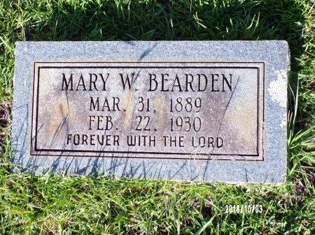 BEARDEN, MARY W - Union County, Louisiana | MARY W BEARDEN - Louisiana Gravestone Photos