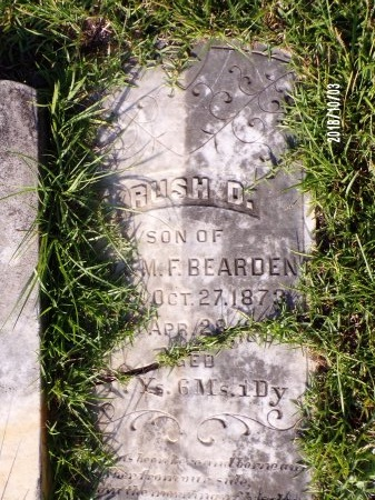 BEARDEN, RUSH D - Union County, Louisiana | RUSH D BEARDEN - Louisiana Gravestone Photos