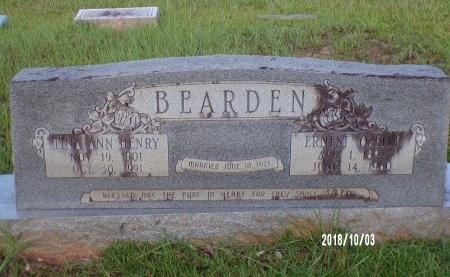 BEARDEN, ERNEST OZELLE - Union County, Louisiana | ERNEST OZELLE BEARDEN - Louisiana Gravestone Photos