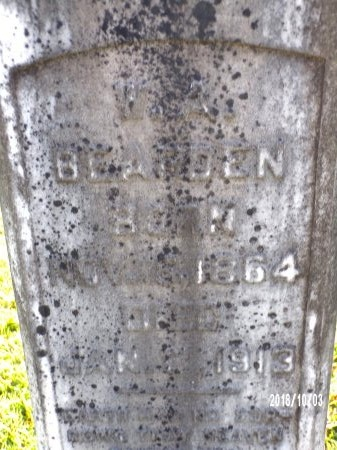 BEARDEN, WILLIAM ARTHUR (CLOSE UP) - Union County, Louisiana | WILLIAM ARTHUR (CLOSE UP) BEARDEN - Louisiana Gravestone Photos