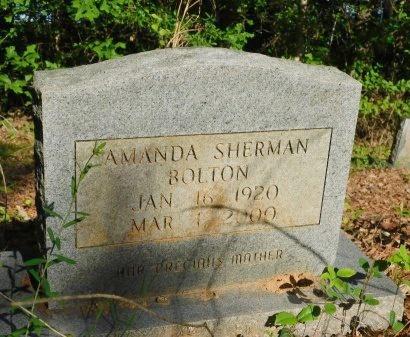 SHERMAN BOLTON, AMANDA - Union County, Louisiana | AMANDA SHERMAN BOLTON - Louisiana Gravestone Photos