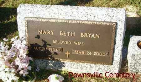 BRYAN, MARY BETH - Union County, Louisiana | MARY BETH BRYAN - Louisiana Gravestone Photos