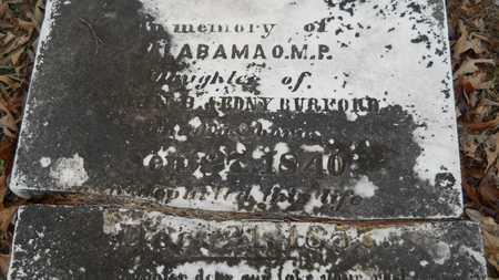 BURFORD, ALABAMA O M P (CLOSE UP) - Union County, Louisiana | ALABAMA O M P (CLOSE UP) BURFORD - Louisiana Gravestone Photos